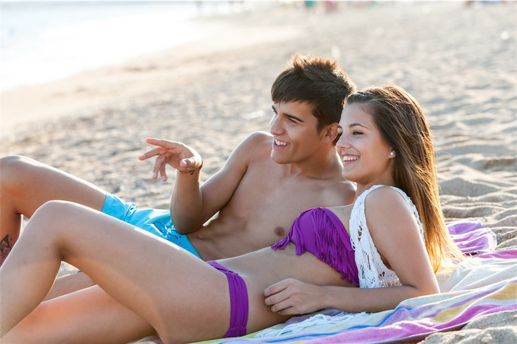 Naked young teen couple